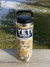 Yeti *Camo* Camouflage Limited 18 oz Rambler Water Bottle New Rare Authentic