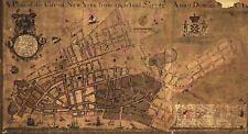 Map 1755 Maerschalck New York City Plan Large Canvas Art Print