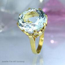 Ring in 585/- Gelbgold - mit 1 Aquamarin Ø 14,94 mm - Top Zustand