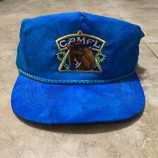 Vintage Camel Cigarettes Neon Blue Snapback By Gold Medal 100% Nylon Thailand