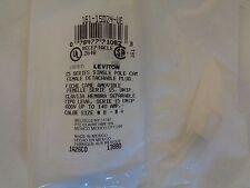 NEW LEVITON 165-15D24-UE 15 SERIES SINGLE POLE CAM PLUG BLACK CABLE SIZE #8-#4