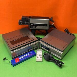 Vintage Hitachi Colour Full VHS Video Camera + Cassette Recorder/Player + Tuner