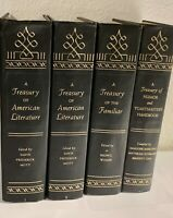 Grolier 4 Volume Set: A Treasury of American Literature Speeches History