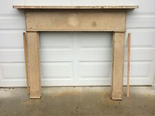Vintage, Antique Federal-Style Farmhouse Wood Fireplace Mantel