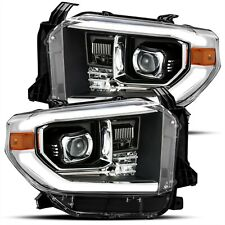 AlphaRex Black LED DRL Projector Headlights For 2014-2017 Toyota Tundra