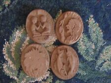 wood medallion stamp carved pieces Assorted Designs lot craft home decor chic
