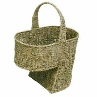 WoodLuv Hand Woven Large Seagrass Stair Basket Step Storage Basket 35cm High