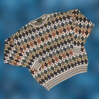 Vintage 90s Men's Coogi Style Sweater Biggie Cosby Hip Hop Sz XLT