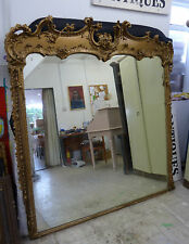 Very Large Antique Ornate Gold Mirror - Barn Find Reclamation Salvage
