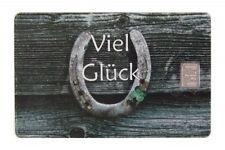 Geschenkkarte Motivkarte Silberbarren 999er Silber 1g Gramm Glück Hufeisen  ...