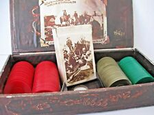 MARLBORO POKER SET Card Game Chips Box Set Vintage 1973