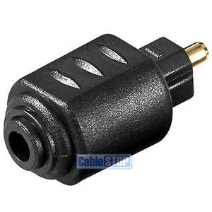 Toslink Plug to 3.5mm Mini Toslink Female Socket Digital Audio SPDIF Adapter