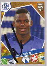 Breel Embolo  FC Schalke 04 Panini Sticker Fußball original signiert 342494