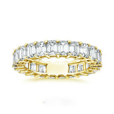 2.40 Ct Emerald Cut Diamond Engagement Ring 14K Solid Yellow Gold Size 5 6 7 8 9