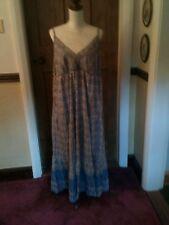 Women's MAXI DRESS, BLUE PAISLEY PRINT MAXI DRESS, 100% COTTON, UNWORN DRESS