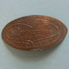 Lovegroves Good Luck Michigan Sesquicentennial 2-Sided Elongated Copper Penny