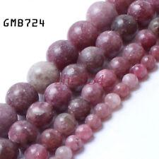 "Natural Stone Lepidolite Gemstone Jewelry Making Loose Beads Strand 15"" 6mm #"