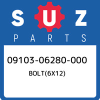 09103-06280-000 Suzuki Bolt(6x12) 0910306280000, New Genuine OEM Part