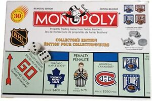 RARE Sealed Bilingual Monopoly NHL Collector's Edition 1999