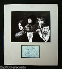 THE PRETTY THINGS-Rare Autographed 13 x 15 Photograph & Signed Page Display