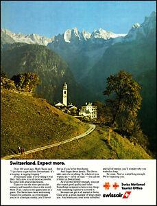1982 Swissair Switzerland vacation Nat Toutist Office retro photo print ad ads13