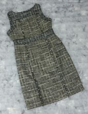 J. Crew Size 12 Pepper Tweed Eyelash Fringe Sleeveless Dress Wool Sheath