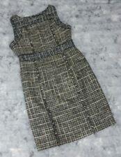 J. Crew Size 12 Pepper Tweed Eyelash Fringe Sleeveless Dress Wool Sheath