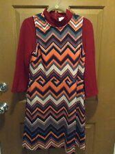 ECI New York 1970's Style Retro Mod Layered Look Dress