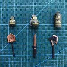 """6pcs Set 1/6 Scale couteau BOMBE FUMIGÈNE Grenade poignard hache pour 12"""" Action Figure"""