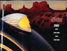 2002 Indian Motorcycle 16-page Original Sales Brochure Catalog - Scout Spirit