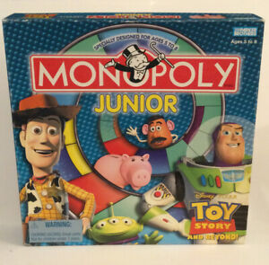 MONOPOLY JR TOY STORY AND BEYOND! ORIGINAL 2002 Complete