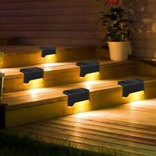 12pk Solar Fence Light Waterproof Patio Stair Gate Outdoor Auto Walkway LED