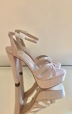 Kurt Geiger Carvela Pale Pink Platform High Heel Sandals Size 7 40 RRP £140 NEW
