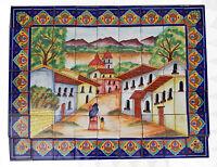# 40 Mexican Talavera Mosaic Mural Tile Handmade Hand Painted Path