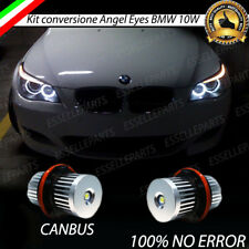 COPPIA LAMPADE LED LUCI POSIZIONE BMW SERIE 5 E60 E61 ANGEL EYES ANELLI CANBUS