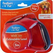 Retractable Dog Lead Flexi Locking Extending Leash Comfort Grip Large 5M  25kg