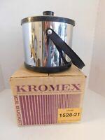Kromex Ice Bucket with Carton, New Old Stock