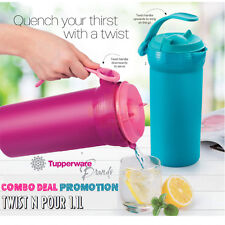 TUPPERWARE Twist n Pour Jug 1.1L (2) Combo Deal Promotion On The Go Water Bottle