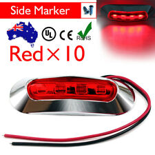 10 x 12V 24V RED Led Side Marker Tail Light Lamp Clearance Trailer Truck Boat