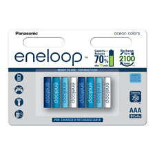 8 x Panasonic eneloop AAA 800 mAh Rechargeable Batteries Limited Edition Ocean