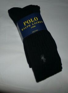 NWT MENS POLO RALPH LAUREN DRESS SOCKS~BLACK~3 PAIRS