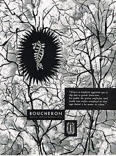 PUBLICITE ADVERTISING 054  1957  BOUCHERON joaillier diamantaire