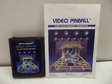 Atari 2600 Game Cartridge Video Pinball W/Manual