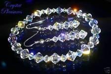 "9"" Crystal Swarovski Element AB Aurora Borealis Bracel Set"