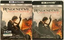 RESIDENT EVIL THE FINAL CHAPTER 4K ULTRA HD BLU RAY 2 DISC + RARE OOP SLIPCOVER