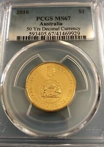 🤩2016 PCGS graded MS67 50 yrs decimal currency changeover $1 LOW MINTAGE!!🤩