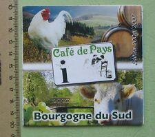 Bourgogne du sud Carte touristique France - Touristic map - for collectors