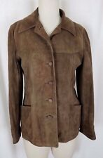Vintage Leathers by New England Sportswear Co. Brown Jacket Womens S USA Suede