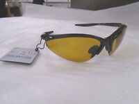 Ugly Fish Polarised Sunglasses PT6675 Shiny Black With Yellow Lens