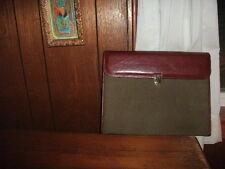 ALESSANDRO VENANZI  Leather flap padfolio color sage w/ brass clasp STYLE #9827